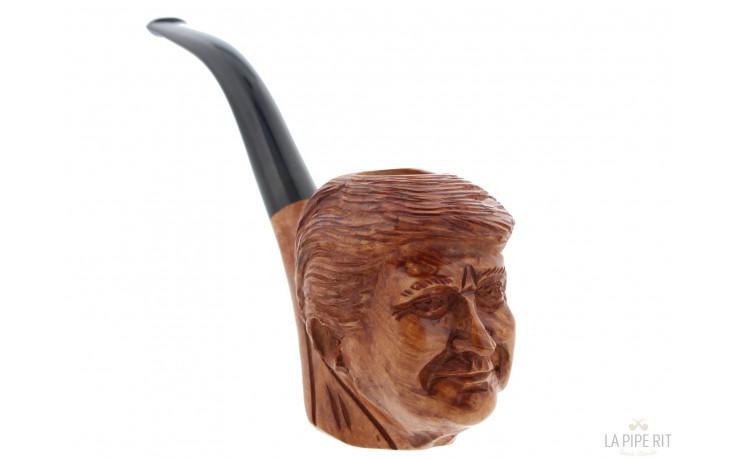 Pipe sculptée Donald Trump