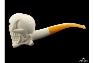 Skull meerschaum pipe