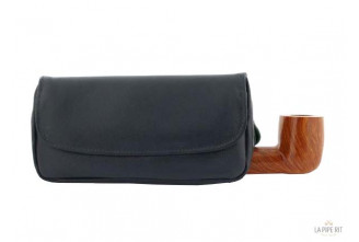 Leather Peterson tobacco pouch for 1 pipe