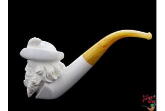 Pipe en écume de mer Fumeur 5