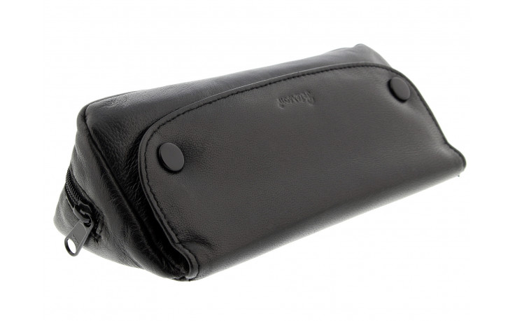 Leather Peterson tobacco pouch for 1 pipe black