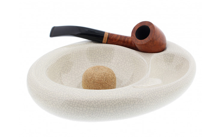 Ceramic ashtray for 2 pipes