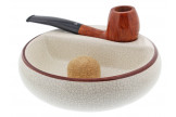 Ceramic ashtray for 1 pipe