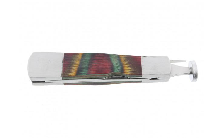 Multicolored compact pipe tamper