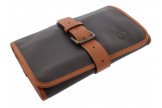 Beige and brown roll pipe case