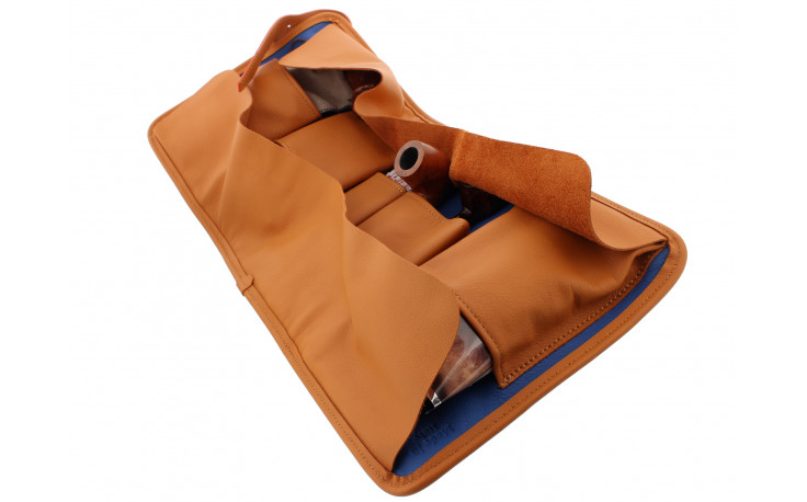 Blue and orange roll pipe case