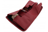 Burgundy and black roll pipe case by Claudio Albieri