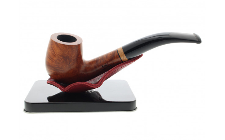 Burgundy tabletop pipe stand for 1 pipe by Claudio Albieri