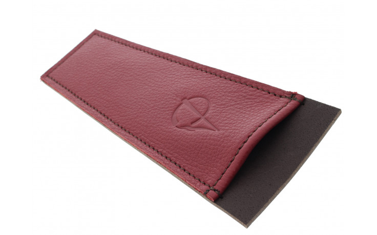 Burgundy leather case for pipe cleaners by Claudio ALBIERI