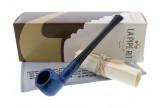 Straight blue Artisan pipe