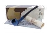 Half-bent blue Artisan pipe