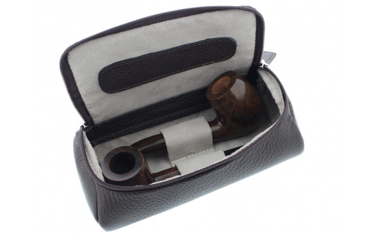 Brown cover Savinelli for 2 pipes