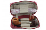 Red cover Savinelli for 2 pipes