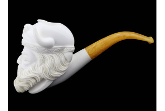 Half-bent meerschaum smooth pipe