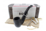 Big Ben smoking set with a sandblasted bent pipe
