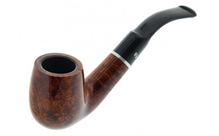 Big Ben smoking set with a lacquered bent pipe