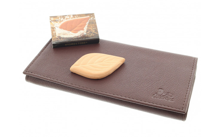 Leather roll up pouch I755 Cognac