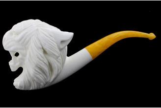 Meerschaum tiger pipe