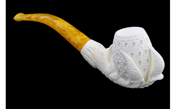 Small claw meerschaum pipe