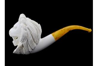 Meerschaum big lion pipe