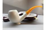 Meerschaum pipe with flat bottom