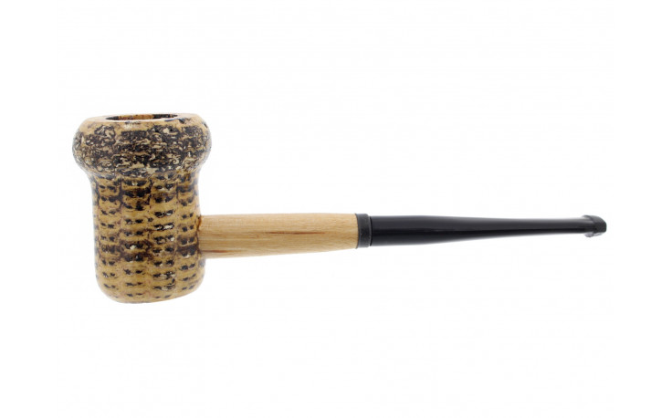 Patriot straight corn cob pipe