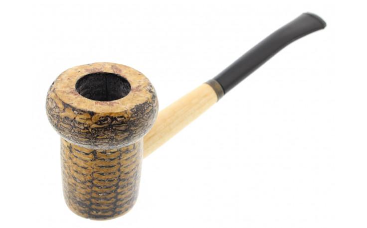 Patriot corn cob pipe (bent bit)