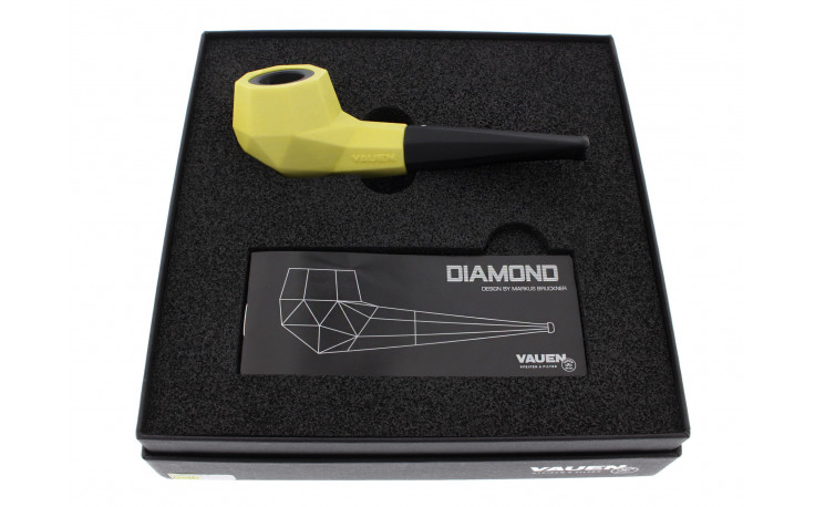 Pipe Vauen Diamond Jaune