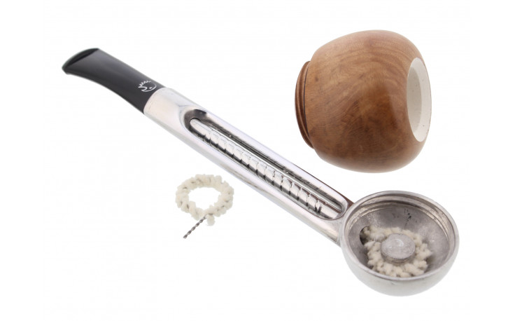 Falcon Genoa straight pipe (meerschaum hearth and curved bit)