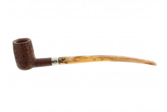 Sandblasted Jeantet 2000 churchwarden pipe (orange)