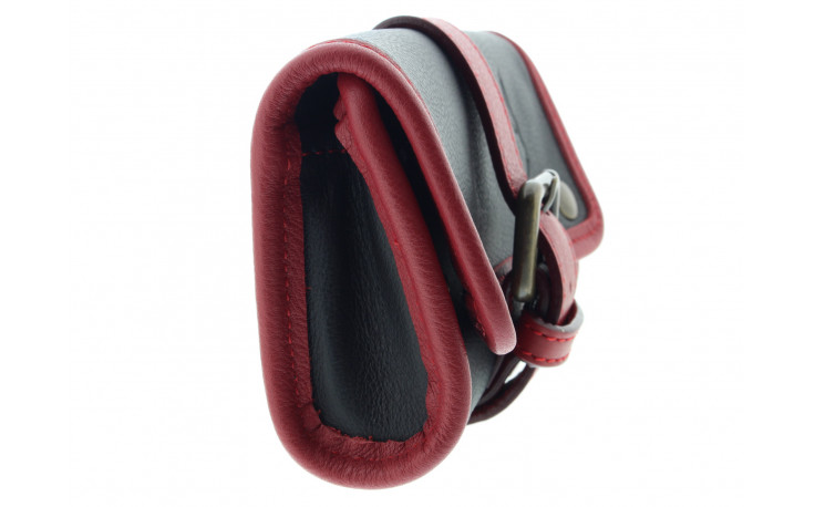Single pipe case by Claudio Albieri (burgundy and black)