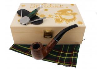 St. Patrick's Day Pipe smoker box (bent pipe)