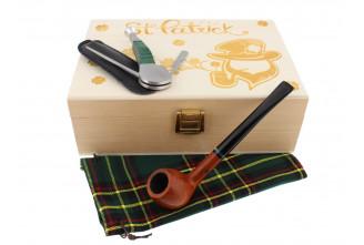 St. Patrick's Day Pipe smoker box (straight pipe)