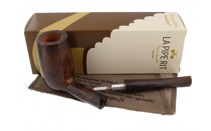Smoking pipe (horn mouthpiece and high bowl)