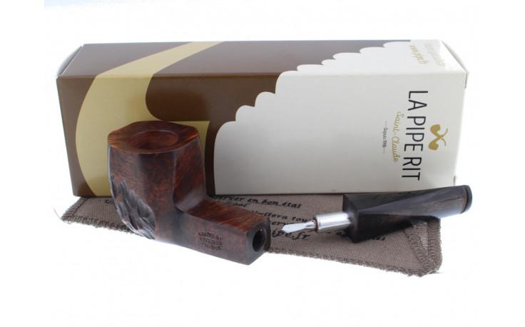 Cheap smoking pipe (horn mouthpiece, partially sandblasted)