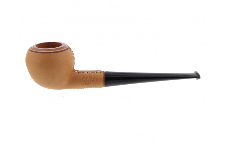 Leather-wrapped pipe