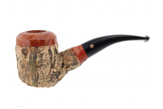 Tom Spanu pipe (bent shape, black mouthpiece)