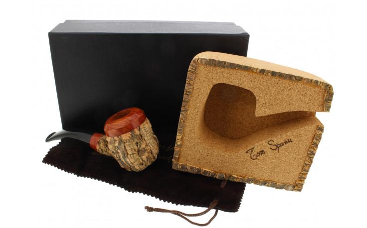 Tom Spanu pipe (bent shape, black mouthpiece)