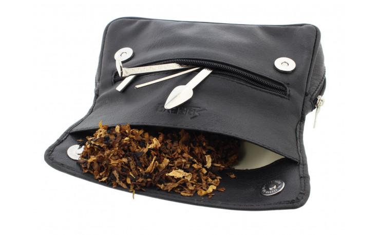 Blague à tabac en cuir pour 2 pipes 031