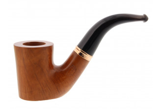 Classical bent pipe (flat bottom and horn mouthpiece)