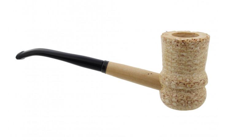 Great Dane Spindle corn cob pipe (bent bit)