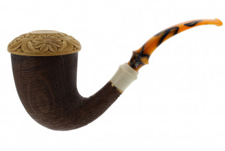 Calabash pipe 3 (Meerschaum and Morta)