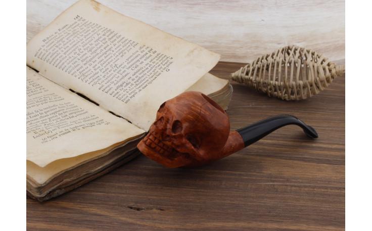 Pipe sculptée Tête de Mort 3