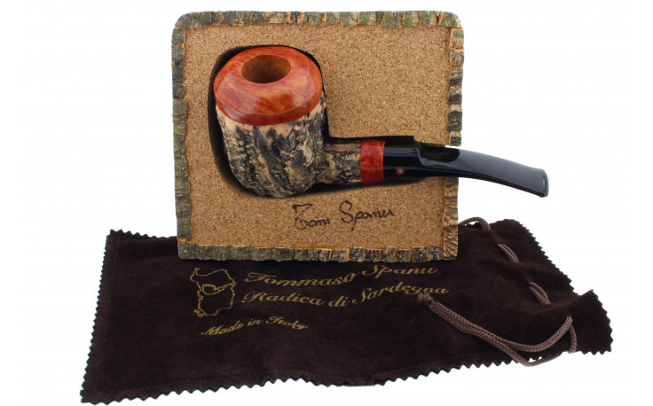 Tom Spanu pipe (straight shape, black saddle mouthpiece)