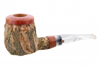 Tom Spanu pipe (straight shape, clear stem)