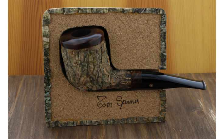 Tom Spanu dark pipe (straight shape, black mouthpiece)