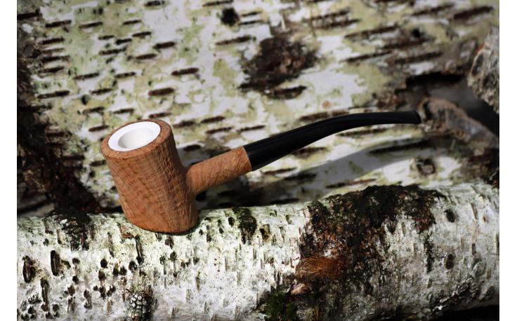Meerschaum Eole poker pipe (sandblasted)