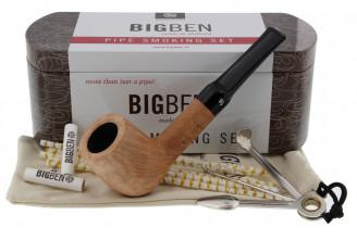Big Ben smoking set (natural straight pipe)