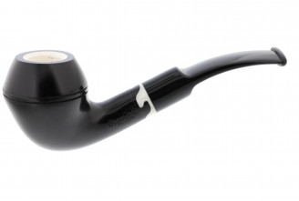 Meerschaum-lined half-bent pipe