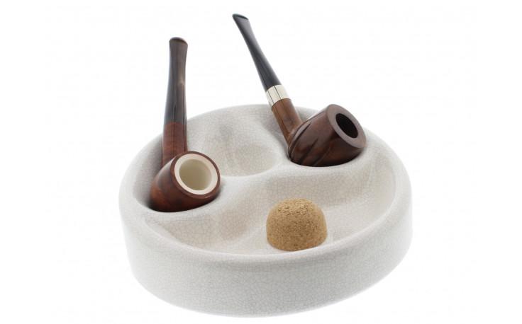 Ceramic ashtray for 3 pipes